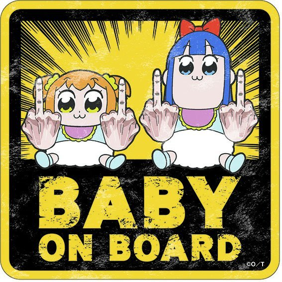 Pop Team Epic Travel Sticker Popuko & Pipimi B