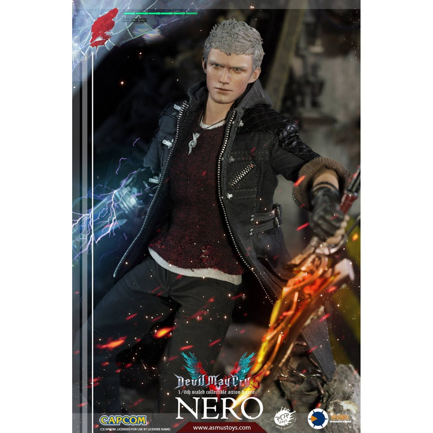 Devil May Cry 5: Devil May Cry 5 1/6 Scale Pre-Painted Figure: Nero