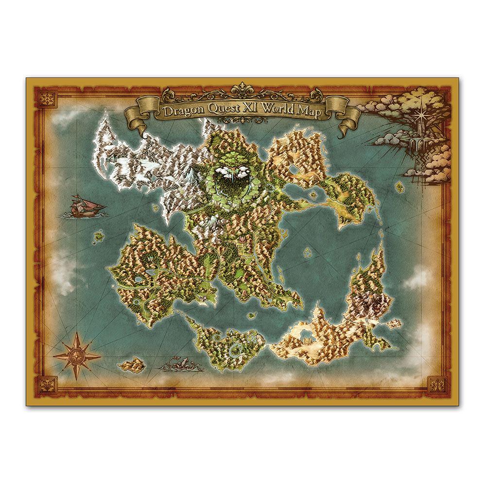 Dragon Quest Xi World Map Cloth
