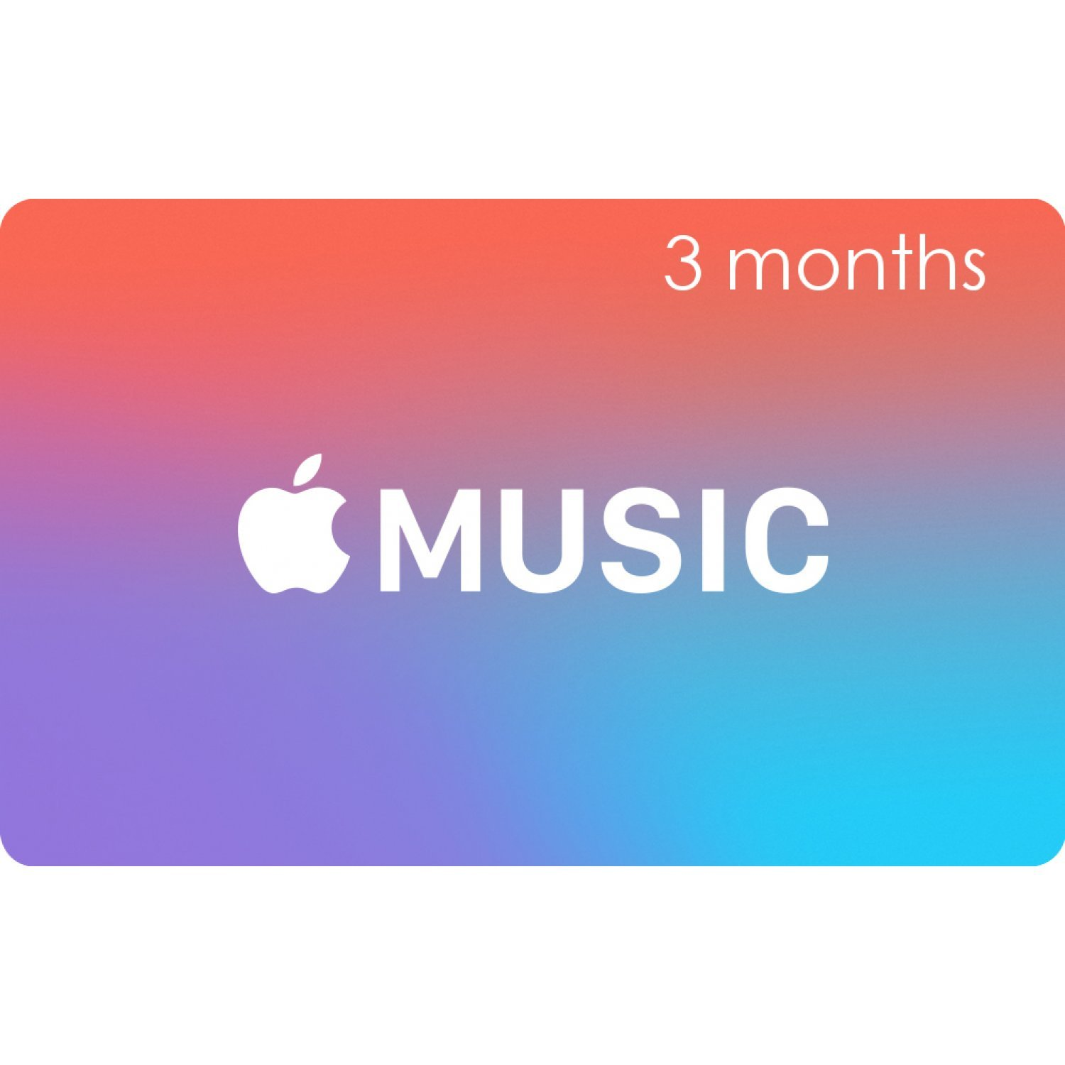 Apple Music Gift Cards (3 Month Membership Card / for US accounts only)