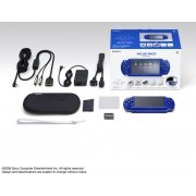 PSP PlayStation Portable Slim & Lite - Metallic Blue Value Pack (PSPJ-20003) (Japan)