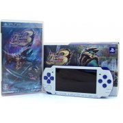 Monster Hunter Portable 3rd Special Model - White/Blue  (PSP-3000 Bundle) (Japan)