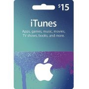 iTunes Card (USD 15 / for US accounts only) digital (US)
