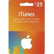 iTunes Card (USD 25 / for US accounts only) Digital (US)