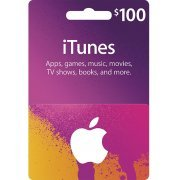 iTunes Card (USD 100 / for US accounts only) (US)