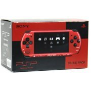 PSP PlayStation Portable Slim & Lite - Black & Red (PSPJ-30026) (Japan)