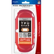 TPU Protector Cover for PlayStation Vita (Red) (Japan)