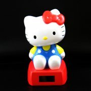 Hello Kitty Solar Power Dancing Mascot: Kitty Blue Ver. (Japan)
