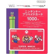 Nintendo Network Card / Ticket - Super Mario Edition (1000 YEN / for Japanese network only) [retail packing] (Japan)