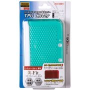 TPU Cover for 3DS LL (Clear Mint) (Japan)