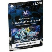PlayStation Network Card / Ticket - Hatsune Miku Project Diva F Limited Edition (3000 YEN / for Japanese network only) (Japan)