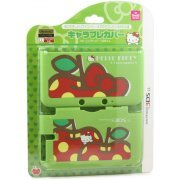Chare Pure Cover for 3DS LL [Hello Kitty Green] (Japan)