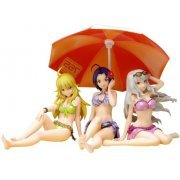 Beach Queens The Idolmaster 1/10 Scale Pre-Painted PVC Figure: Miki/Azusa/Takane DX Set with Beach Parasol (Japan)