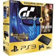 PlayStation3 Super Slim Console - Gran Turismo 6 & The Last of Us (500GB Charcoal Black Model) (Europe)
