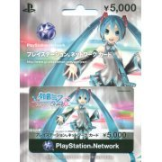 PlayStation Network Card / Ticket - Hatsune Miku -Project DIVA- F 2nd Limited Edition (5000 YEN / for Japanese network only) (Japan)