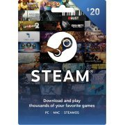 Steam Gift Card (USD 20) Steam Digital  steam (Region Free)