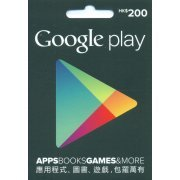 Google Play Card (HKD$ 200 / for Hong Kong accounts only) (Hong Kong)