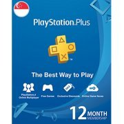 PSN Card 12 Month | Playstation Plus Singapore Account Only (Singapore)