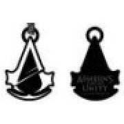 Ubisoft Assassin's Creed Unity Black and White Metal Keychain