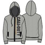 Activision Call of Duty: Advanced Warfare Vertical Logo Zipper Hoodie - Men (Grey) (XXL)