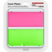 New Nintendo 3DS Cover Plates No.022 (Clear Pink & Green) (Japan)