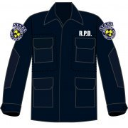 BIOHAZARD 20th BDU Long Sleeve Shirt and Pants Navy XL Size: S.T.A.R.S. (Japan)