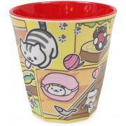Neko Atsume Melamine Cup Ver.2 Yellow (Japan)
