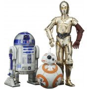 ARTFX+ Star Wars 1/10 Scale Pre-Painted Figure: C-3PO & R2-D2 & BB-8 (Japan)