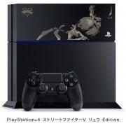 PlayStation 4 System [Street Fighter V Ryu Limited Edition] (Jet Black) (Japan)