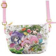 Sailor Moon Botanical Pattern Minimini Pouch: Sailor Chibi Moon & Sailor Saturn & Sailor Pluto (Japan)