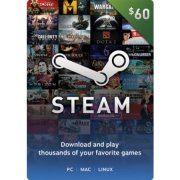Steam Gift Card (USD 60)  steam digital (US)