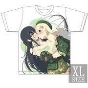 Senran Kagura x Uppers Girls Double Upper T-shirt: Ikaruga & Yomi (XL Size) (Japan)