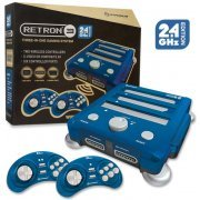 SNES/ Genesis/ NES Hyperkin RetroN 3 Gaming Console 2.4 GHz Edition (Bravo Blue) (US)