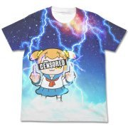 Pop Team Epic Full Graphic T-shirt White: Thunder Popuko (XL Size) (Japan)