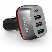 Anker PowerDrive+ 4 Car Charger with USB-C & Quick Charge 3.0