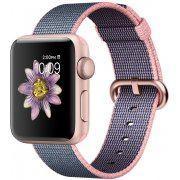 Apple Watch Series 2 38mm with Light Pink/Midnight Blue Woven Nylon (Rose Gold) (Hong Kong)
