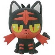 Pokemon Sun and Moon Plush: Litten (Japan)