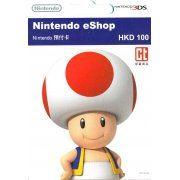 Nintendo eShop 100 HKD Card Hongkong  digital (Hong Kong)