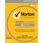 Norton Security Premium 2017, 1 Year, 10 PC (Europe)