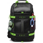 HP 15.6 Odyssey Backpack (Black/Green)