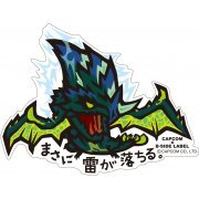 CAPCOM x B-SIDE Label Monster Hunter XX Sticker: Masani Kaminari ga Ochiru (Japan)
