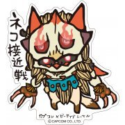 CAPCOM x B-SIDE Label Monster Hunter XX Sticker: Neko Sekkinsen (Japan)