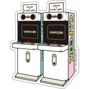 CAPCOM x B-SIDE Label Sticker: Arcade Mini Cute (Japan)