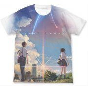Your Name. Full Graphic T-shirt White (L Size) [Re-run]
