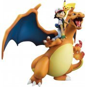 G.E.M. Series Pocket Monsters Pre-Painted PVC Figure: Ash Ketchum & Pikachu & Charizard (Re-run) (Japan)
