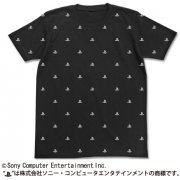 Play Station Logo Full Pattern T-shirt Black (L Size) [Re-run] (Japan)