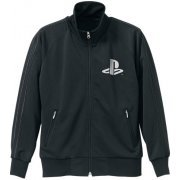 PlayStation Logo Jersey Black (M Size) [Re-run] (Japan)
