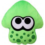 Splatoon 2 Plush: Neon Green Squid Cushion (Japan)