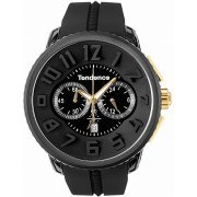 Tendence Wrist Watch Gulliver Round Chrono - 666 Ryu Ga Gotoku Collaboration Limited Model TY 046018 Men's (Black) (Japan)