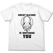 Miskatonic University Store Great Old One Is Watching You T-shirt White (L Size) (Japan)